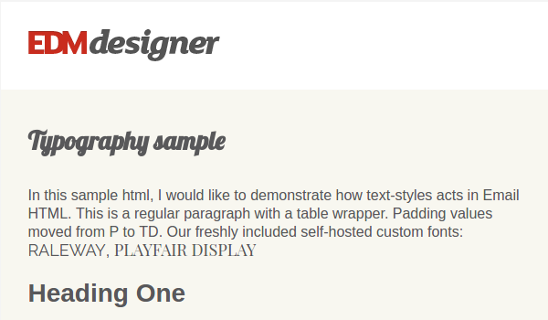 Typography in Modern HTML Emails