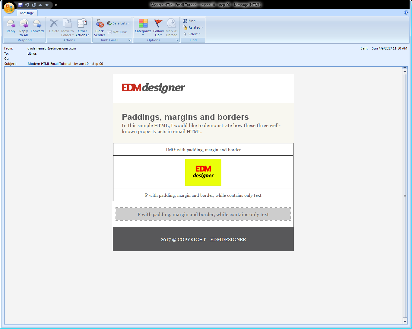 Paddings, Margins and Borders in Modern HTML Emails
